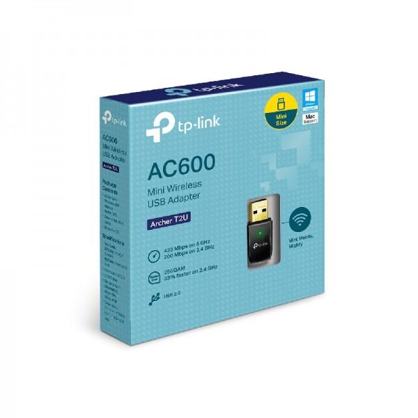 ADAPTOR USB WIRELESS TP-LINK ARCHER T2U AC600