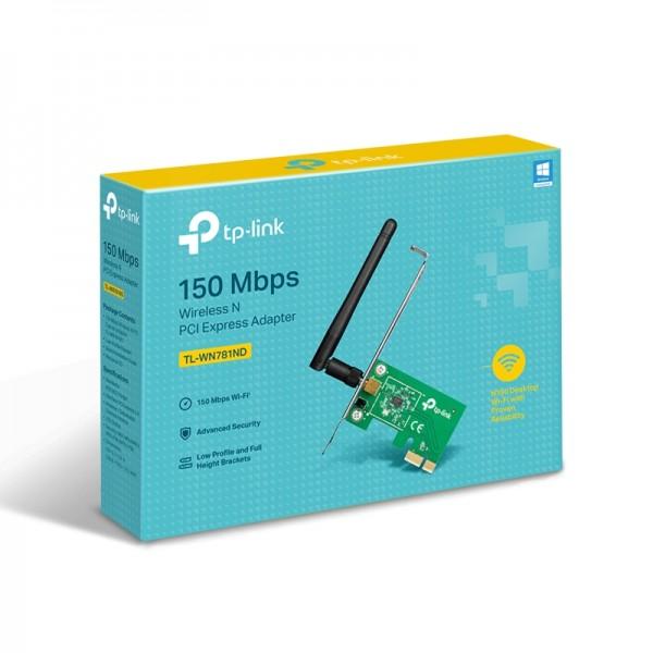 PLACA DE RETEA WIRELESS TP-LINK TL-WN781ND 150 Mbps PCI-E